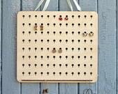 XL wood earrings organize...
