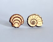 Wood Seashell earring stu...