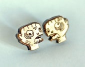 Wood Zombie studs. With s...