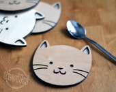 Wood cat coasters - Laser...