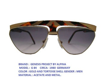 eadcbc98b3 ALPINA G84 SUNGLASSES  alpina vintage eyewear   alpina sun glasses   over  size alpina sun glasses  dead stock glasses alpina