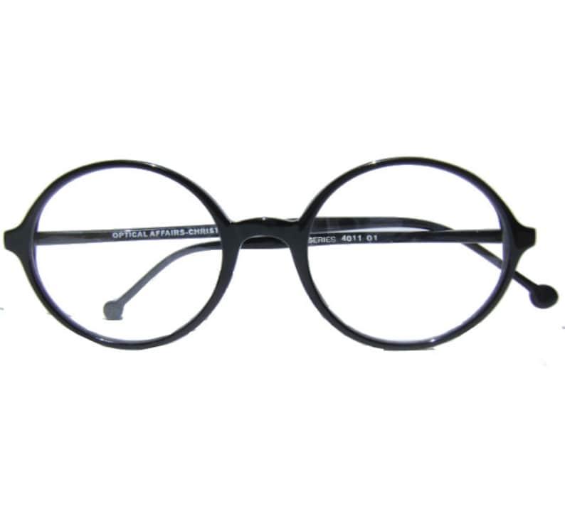 d21dec04e Christian ross eyewear / windsor eyewear / black round | Etsy