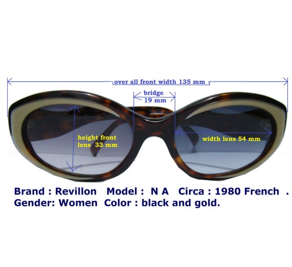 revillon french eyewear/ french sun glasses / wom… - image 2