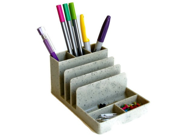 Superieur Vintage Desk Organizer Plastic Pen Holder Office Supply | Etsy