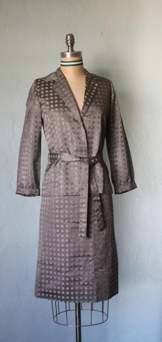 tie waist blazer and skirt