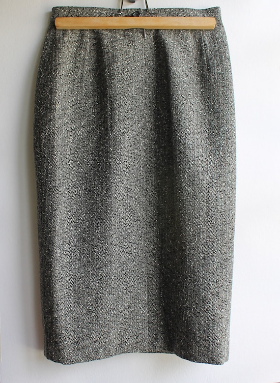 pencil skirt- gray