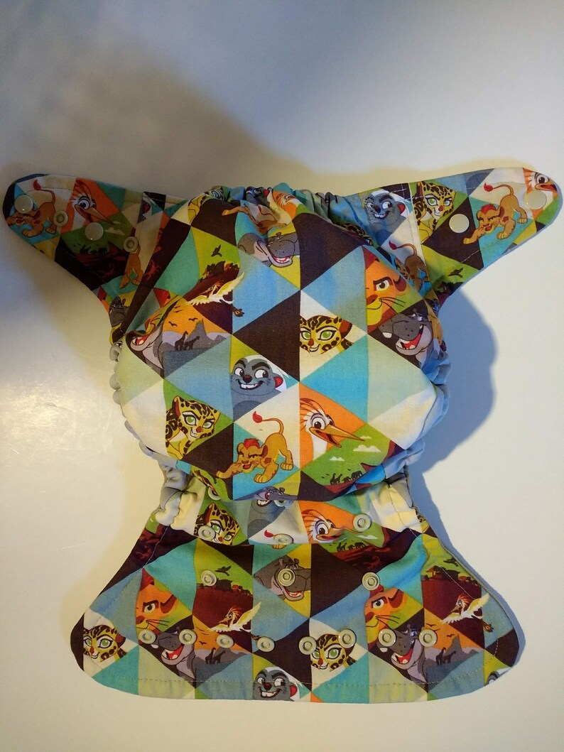 Made to order. Cloth diaper SassyCloth one size pocket diaper with lion guard cotton print