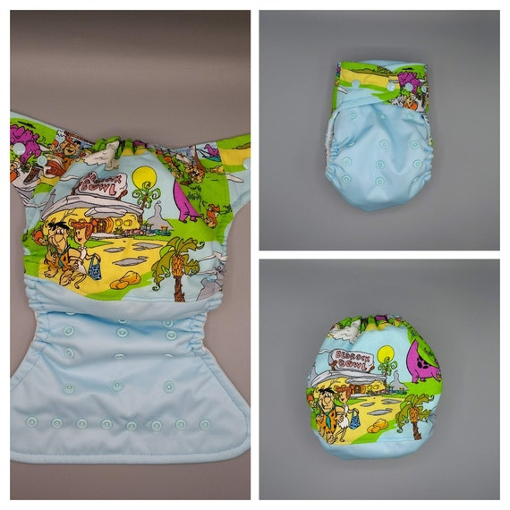 Ready to ship. Cloth diaper SassyCloth one size pocket diaper with super heroes cotton print