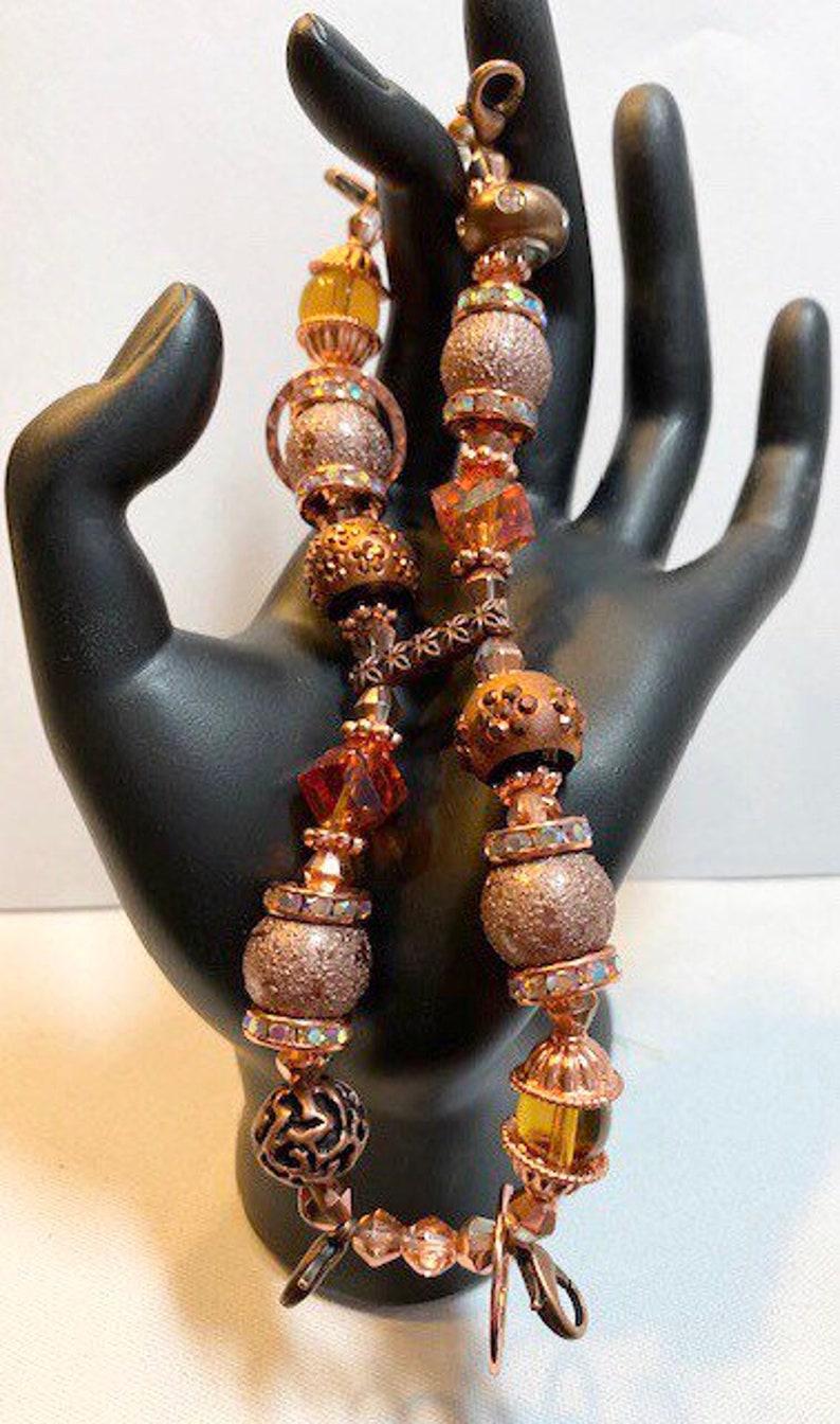 Watchband Single Strand Watches Beaded Interchangeable Watchband Stretchy Bracelets Copper Handmade Women Chunky