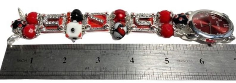 Beaded Stretchy School Colors College Watches for Women Watch University of Utah Graduation Interchangeable