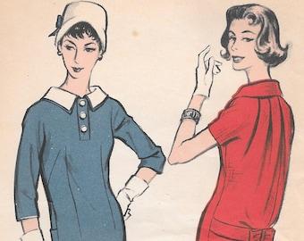 Bust 33-1950's Junior Misses' Dress Advance 8684 Sz  13