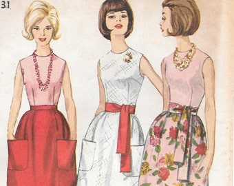Bust 31-FACTORY FOLDED 1964 Misses' Blouse and Skirt in Two Lengths Simplicity 5451 Size 10