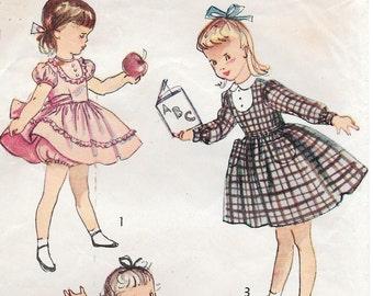 Sz 1-1950's Child's Dress and Panties Simplicity 2970