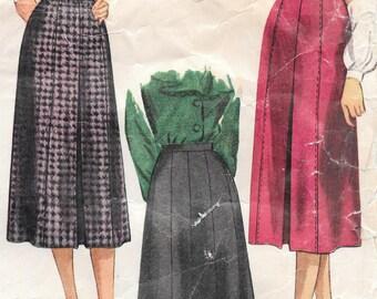Waist 28 Hip 37-1940's Misses' Skirt Simplicity 2349