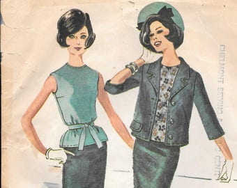 Bust 32-1961 Misses' Three-Piece Suit McCall's 5936 Size 12