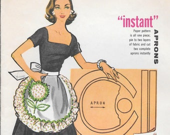 FACTORY FOLDED 1957 Misses' Instant Aprons McCall's 2135