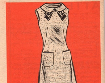 Vintage 1960s Prominent Designer Mail Order A678 DON SOPER Evening Wiggle Slim Dress And CapeStole Sewing Pattern Size 14