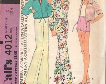 FACTORY FOLDED Misses' Jacket and Pants McCall's 4012 Size 10 Bust 32 1/2