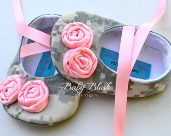 Sweet Camo Baby Soft Ballerina Baby Shoes - Infant Shoes