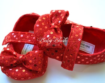 Ruby Slippers Baby Shoes Soft Ballerina Slippers Baby Booties