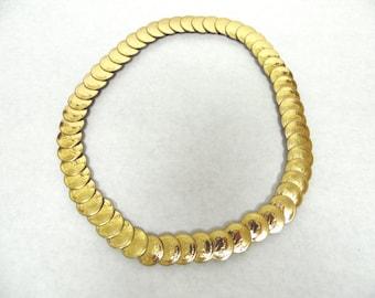 Gold Belt Metal Stretch Elastic Fishscale