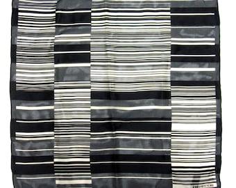 Brown Black White Scarf Jones New York