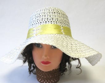 0a327a715d7336 White Floppy Brim Hat Millinery Womens Wide Brimmed