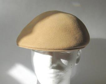 Golf Cap Tan Brown Wool Hat Wilstaff Made In England 8fda3f44a2f