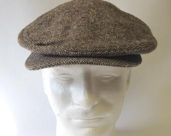 09085282068c0 Brown Golf Cap Tweed Hat