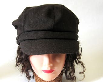 Chocolate Brown Newsboy Cap Twiggy Hat