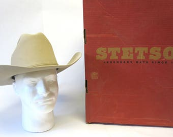 Stetson Cowboy Hat Ranch Tan 5XXXXX 6 7 8 Original Box 4bcb4e95bd39