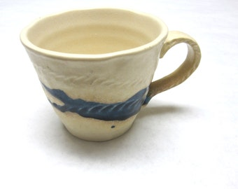 Coffee Cup Mug Cream Blue Muirfield Wabisabi Tochi