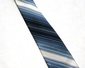 Blue Necktie Striped Neck Tie