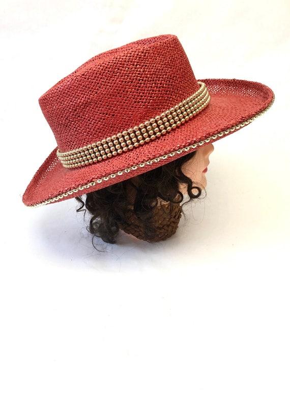 Red Hat Wide Brimmed Western Cowboy Hat Sun Hat