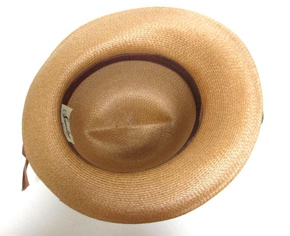Womans Straw Hat Wide Brimmed Fedora Hat Sandra N… - image 4