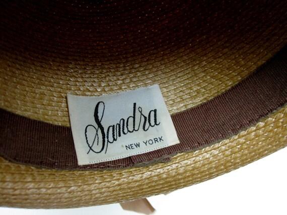 Womans Straw Hat Wide Brimmed Fedora Hat Sandra N… - image 5