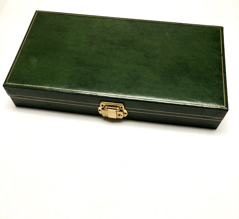 Vintage Large Green Jewelry Box