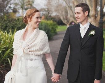 Wedding Shawl/Summer Wedding/Bridal Shawl/Bridal Bolero/Ivory Shawl/Winter Wedding/Bridal Cape/Spring Wedding/Ivory Shrug/Bridal Wrap/Shrug