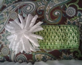 Green Ribbon Crocheted He...
