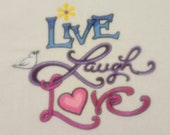 Embroidered Live Laugh Lo...