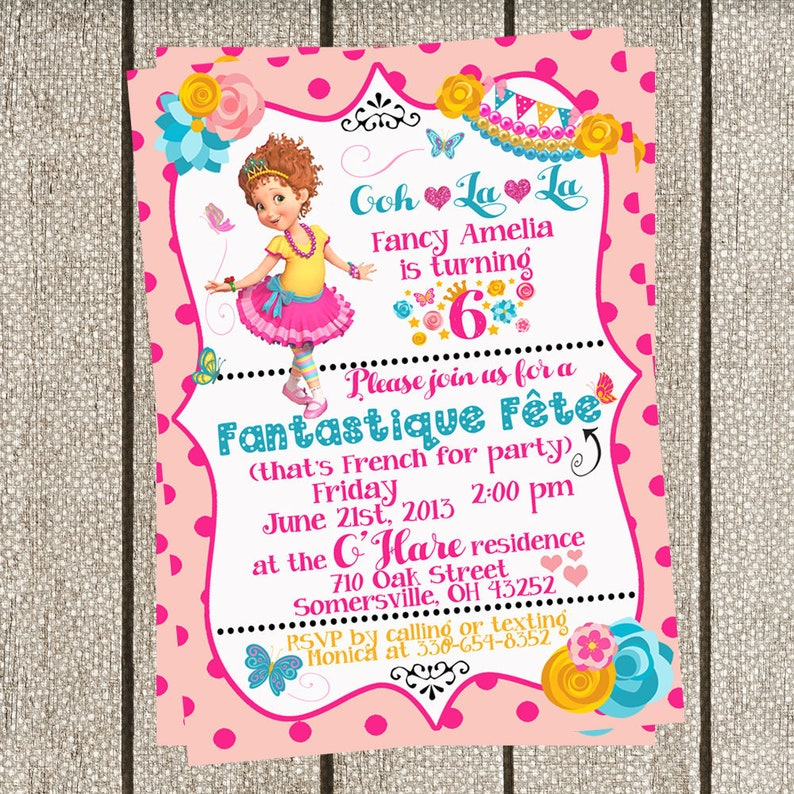 Fancy Nancy Birthday Invitation Party