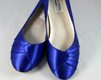 Royal Blue Wedding Flat  - Size 10- Sale Ready to Ship