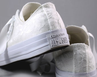 White Lace Low Tops