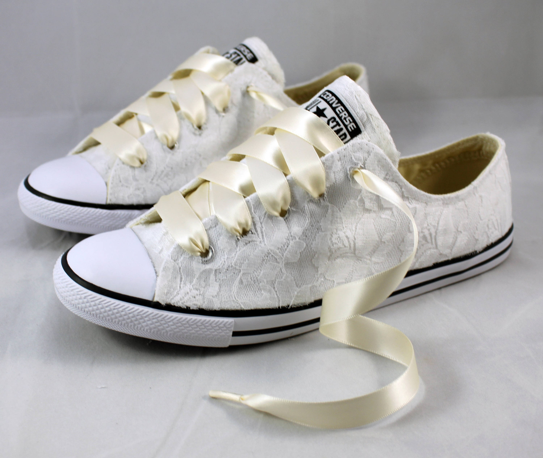 447138050a16 Bridal Converses --Lace Converse -- Wedding Tennis shoes ...