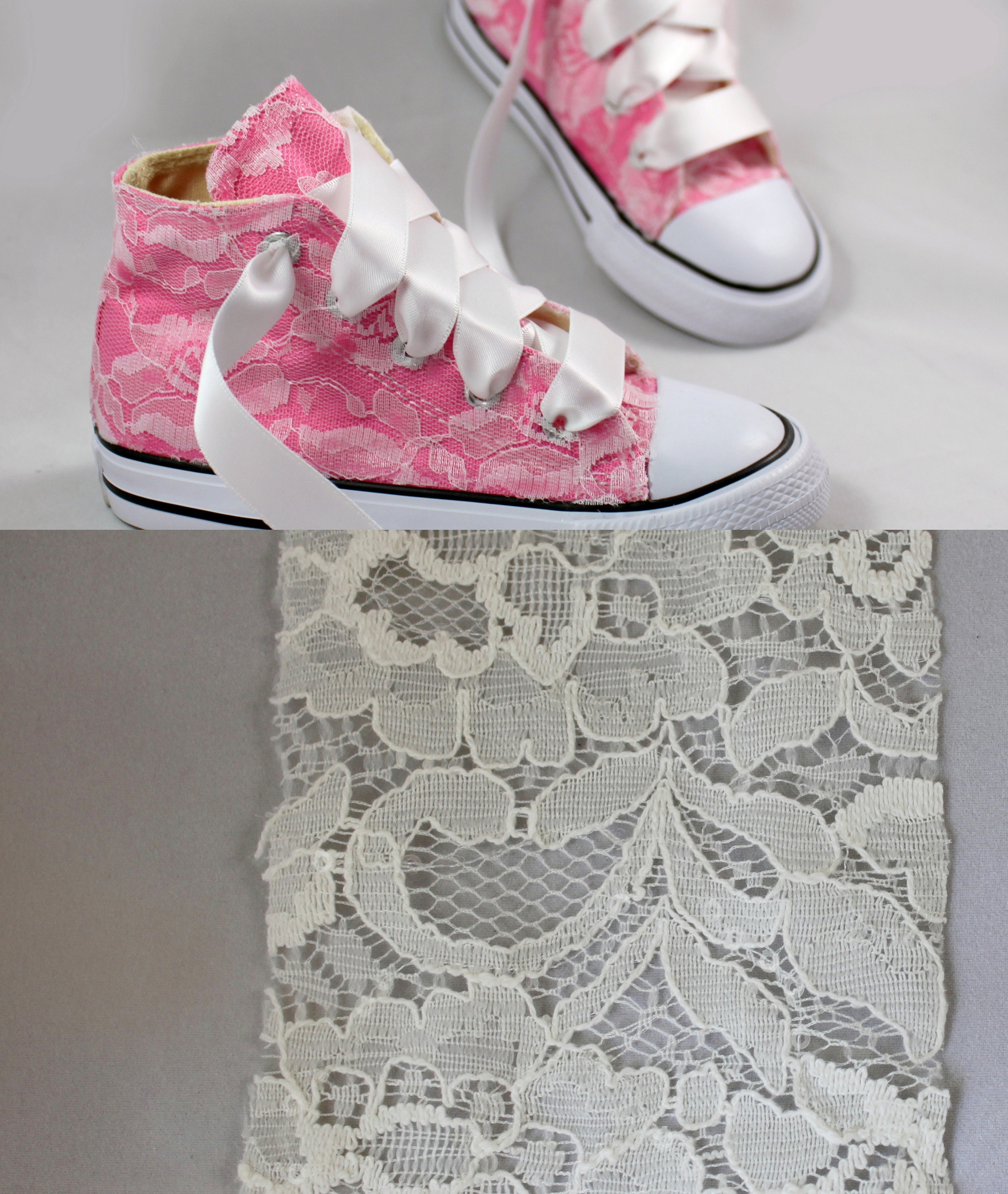 0a6bb79e9829 6 Custom Girls Converses For Michalyne Taylor - Lace Converses ...