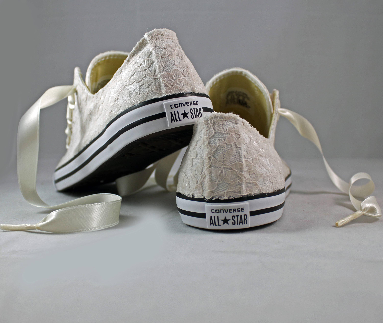 fa074bbc2aebf Champagne Lace Wedding Converse -Champagne Lace Bridal ...
