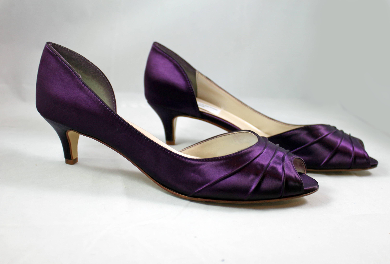 MOB Purple Wedding Shoes low heel SALE
