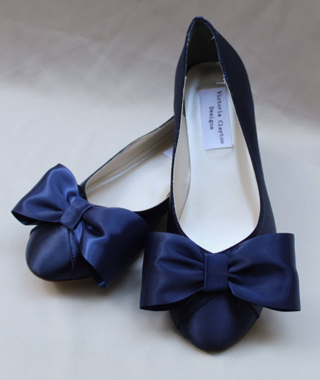 323577c61224 Navy WIDE Wedding Flat Size 11 Wide SALE Ready to ship - Wide ...