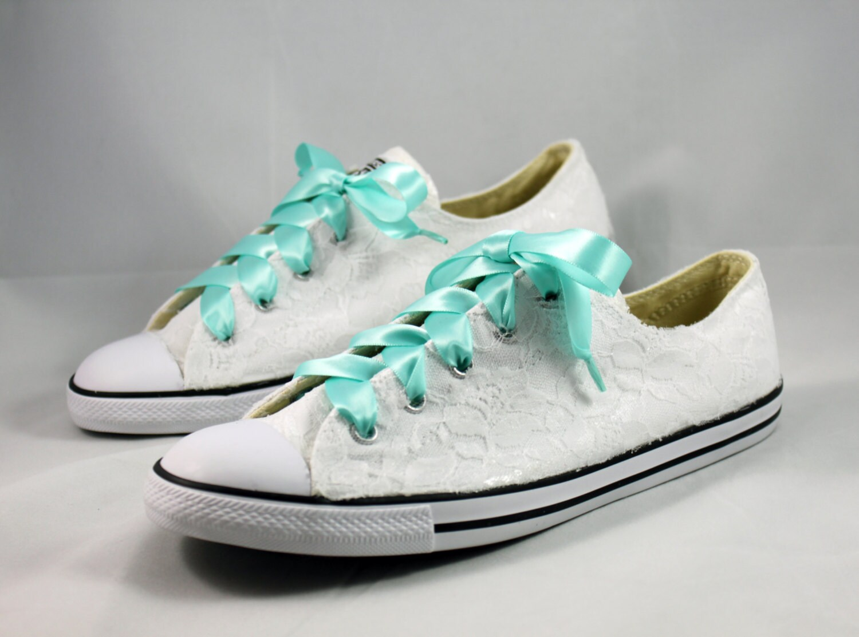 2e03f8e7275c4 Bridal Converses --Lace Converse -- Wedding Tennis shoes ...