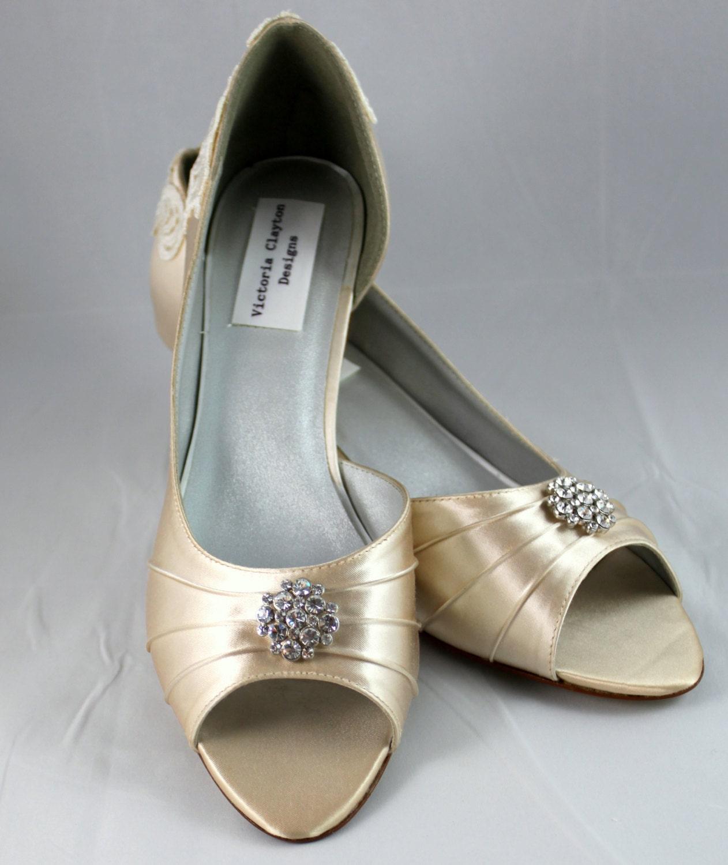 Wedding Shoe Low Heel Size 8.5